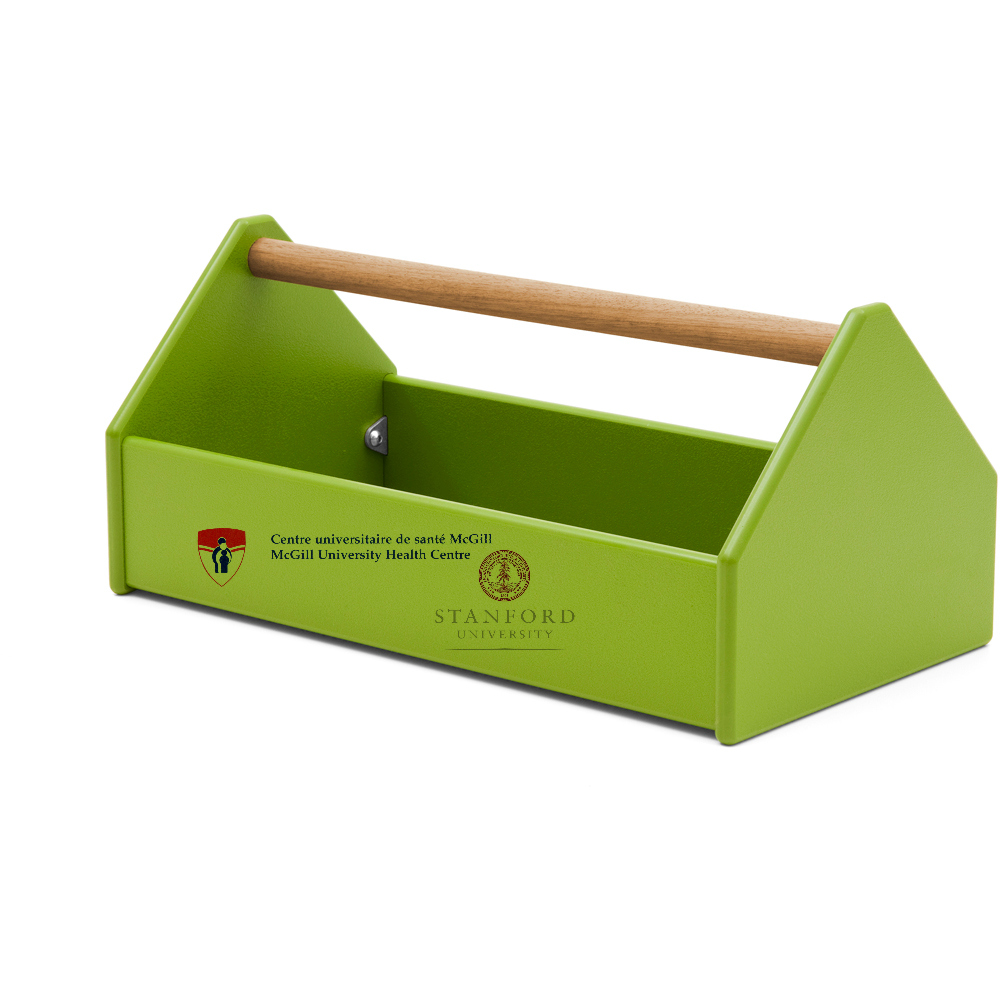 Image of Green Toolbox with McGill University Health Centre Logo and Stanford University Logo