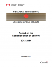 Report on the Social Isolation of Seniors