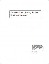Social Isolation Among Seniors: An Emerging Issue